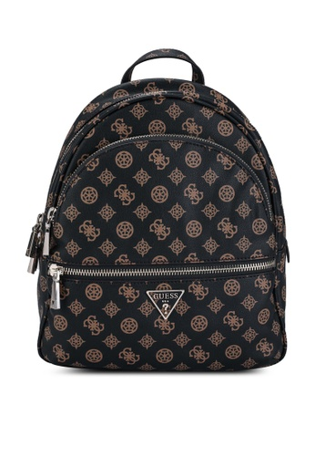 Guess brown Manhattan Large Backpack 1BE85AC9A0A9F3GS_1