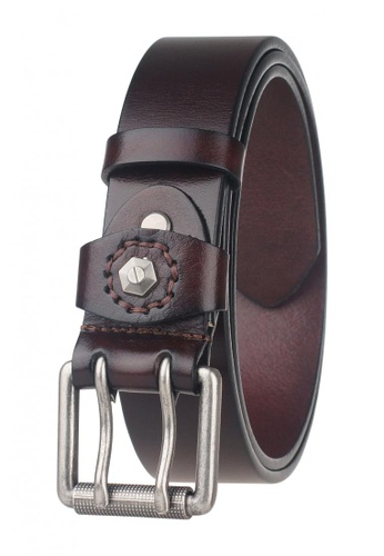 FANYU Men Pin Buckle Italy Leather Belt Coffee FA549AC32BFJSG_1