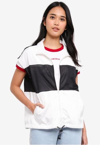 Penshoppe white Satin Track Jacket CA763AA7FF5C5FGS_1