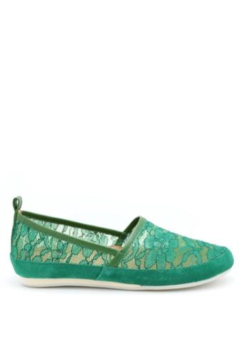 PRODUIT PARFAIT 綠色 蕾絲平底鞋 0BE5CSH96E000FGS_1