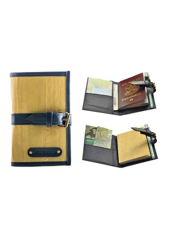 Jacinto and Lirio navy Pacem II Mini Blank Refillable Vegan Leather Journal 65EC4HL7EF6A20GS_1