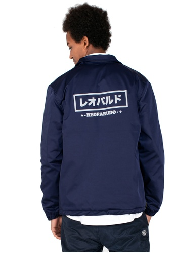 Reoparudo blue and navy RPD Reflective Logo Print Coach Jacket (Navy Blue) 24531AA6A8AF73GS_1