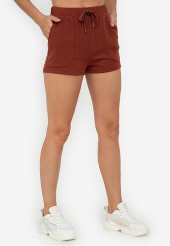 ZALORA ACTIVE red Raw Hem Shorts B73FDAA6E2946EGS_1