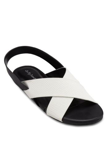 交叉寬帶繞踝涼鞋, 女esprit 鞋鞋, 鞋