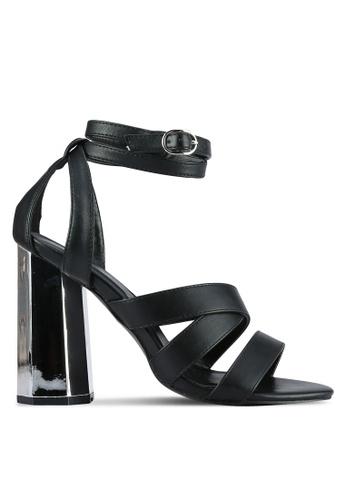 Something Borrowed black Open Toe Cylinder Heel 92754SH6486D0AGS_1