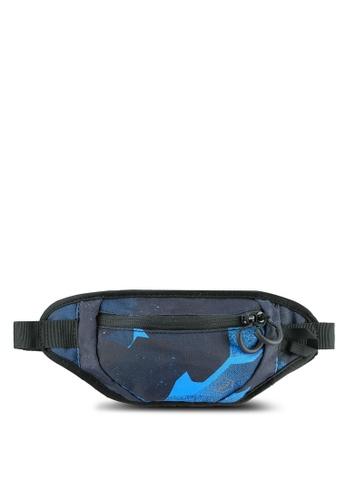 Asics blue and navy Medium Waist Pouch AS989AC0S39HMY_1