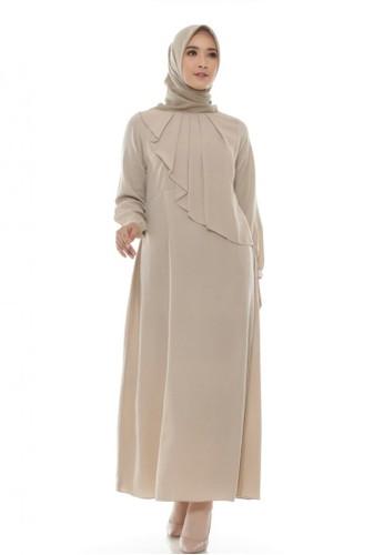 LAV INDONESIA beige Raya Dress 1F1E4AA9D5DC83GS_1