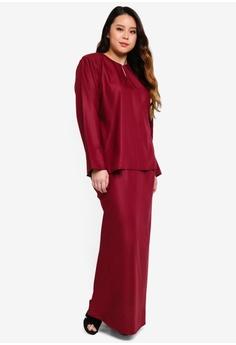 c1472f7d8e3 Kasih red Plus Size Osaka Cotton Linen Mini Kurung 7FD07AA5CA3294GS 1