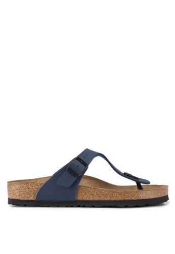 Birkenstock blue Gizeh Birko-Flor Sandals BI090SH0UCZOID_1