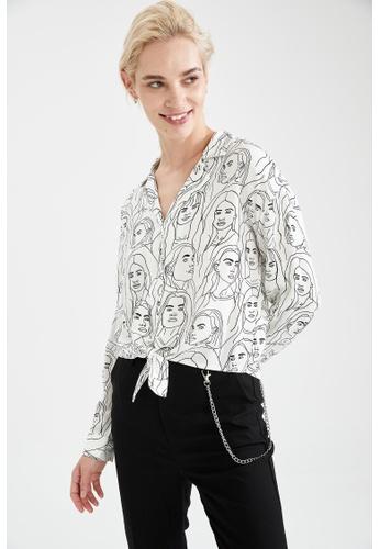 DeFacto white Woman Long Sleeve Shirt 79F25AAD64EECFGS_1