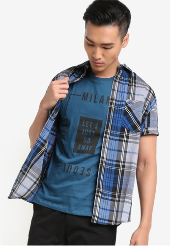 Fidelio blue Signature Casual Short Sleeves Shirt FI826AA95NUAMY_1
