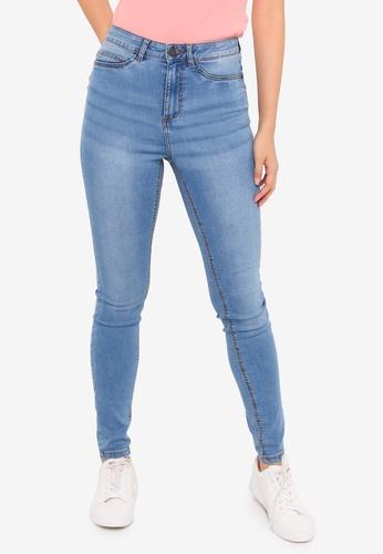 Noisy May blue Callie High Waist Skinny Jeans 5FDCCAAE13DAADGS_1
