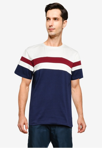 ZALORA BASICS multi Color Block T-Shirt B798BAA699CA1DGS_1