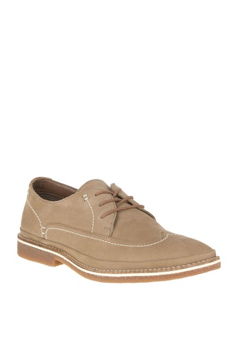 Hush Puppies beige Komondor WT Oxford Shoes B13A1SHF1CCF92GS_1