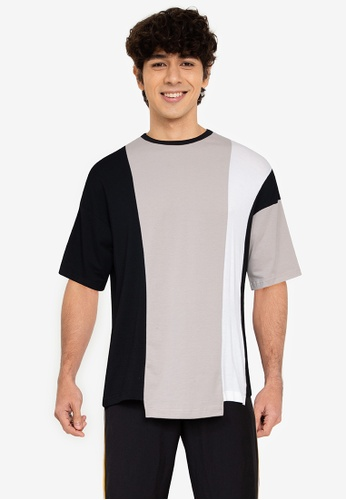 ZALORA BASICS 多色 Colourblock Oversized T-Shirt 2744BAA30EB527GS_1
