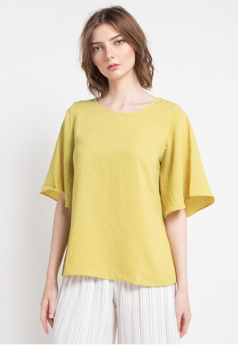 WHITEMODE green Bria Blouses 7BBB9AA55CB3F0GS_1