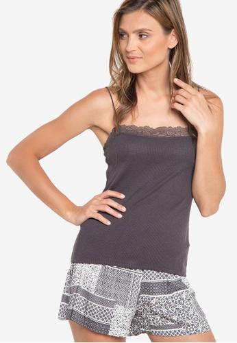Women'Secret grey Grey Romantic Pyjama-Shorts WO070AA24ZEDPH_1