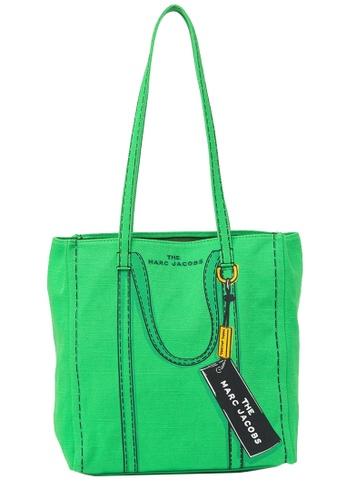 Marc Jacobs green Marc Jacobs Trompe L'oeil Tag 27 Tote Bag in Bright Green Multi DE479AC42DB7C4GS_1