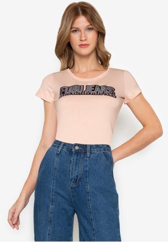 Fubu Queens orange Roundneck T-Shirt 534EBAA25D14A6GS_1