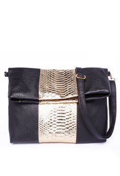 Jessica Embossed Metallic Skin Envelope Bag