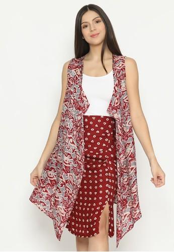 KICHI BATIK red Vest Batik Ayu 4844BAAE146A43GS_1