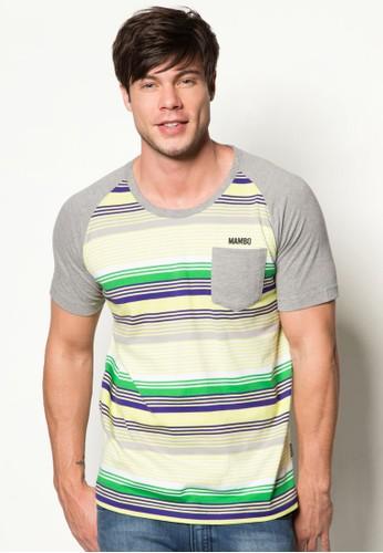 條紋拉克蘭袖圓領TEE, 服飾, esprit 台中印圖T恤