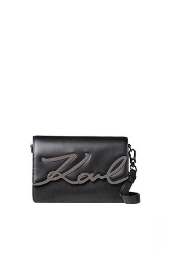 KARL LAGERFELD black K/Signature Shoulderbag 61D1DAC44A5A21GS_1