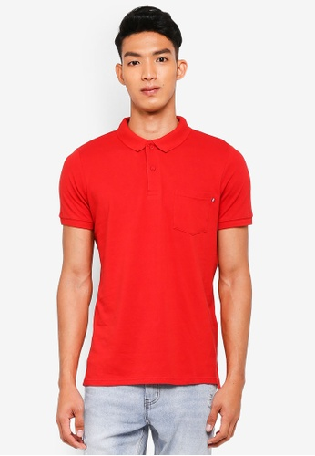 Cotton On red Icon Polo Shirt 3B0C9AA03B6BDEGS_1