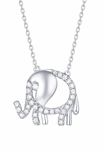 Smiling Rocks white 10K White Gold 0.23ct Lab Grown Diamond Mini Necklace 07D7FAC7FDB0EFGS_1