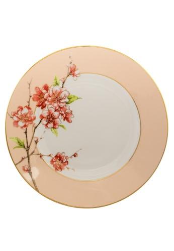 Minh Long I white Pink Floral: Porcelain Flat Round Plate (27cm) FDEEAHL581A958GS_1