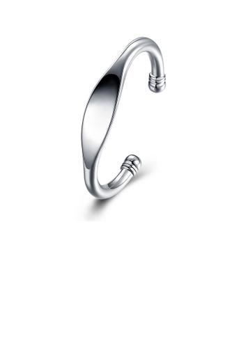 Glamorousky silver Simple and Fashion Geometric Bangle E854BAC04DFE62GS_1