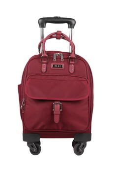 ELLE red Elle Handle Travel Bag 32073 - Burgundy - 14 Inch  5F4A9AC3C6F4FDGS 1 91c3bbbb66