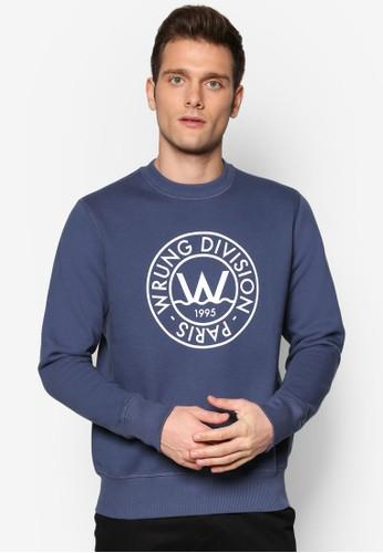 Floesprit 旺角 圓領文字設計長袖衫, 服飾, 服飾