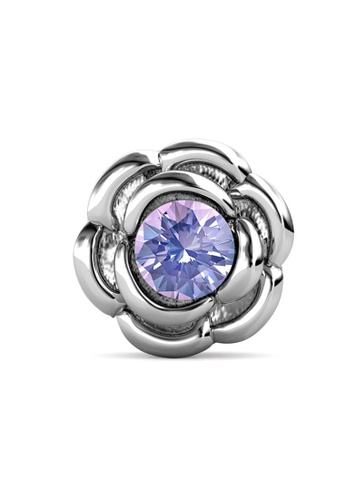 Her Jewellery silver Petunia Brooch (June, White Gold)-  Made with premium grade crystals from Austria 9C504ACF569817GS_1