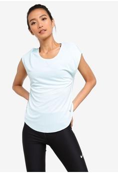c10e0e64dae7f Nike green Women s Nike City Sleek Top B3D51AACC3B6A1GS 1