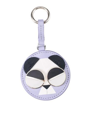 kate spade new york purple Gentle Panda Keychain (cv) C40FFAC9344287GS_1