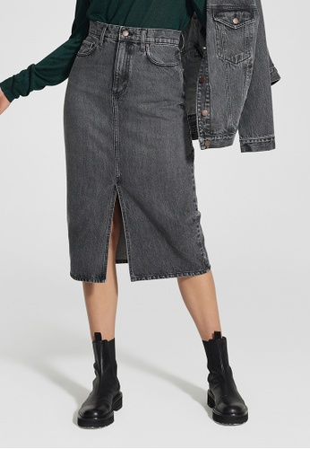 Nobody Denim grey Stranded Skirt BE55CAA09FD6C7GS_1