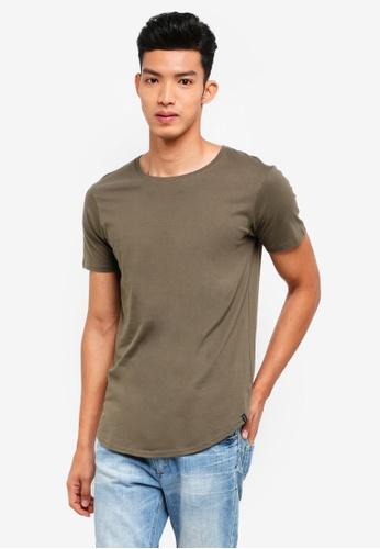 Factorie green The Curved Tall Tee A967AAA701036BGS_1