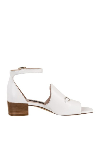 Nine West white NWXQUILZA Ankle Strap Sandals 84B96SHE91C185GS_1