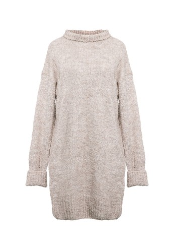 VOYANT BY MEGUMI brown Knit Wool Blend Sweater 74A74AAFAB0625GS_1