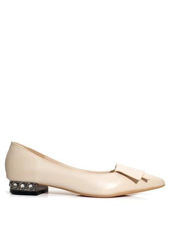 Twenty Eight Shoes 米褐色 人造鑽石矮跟鞋 VL24962 DBF26SH2A6B9DAGS_1
