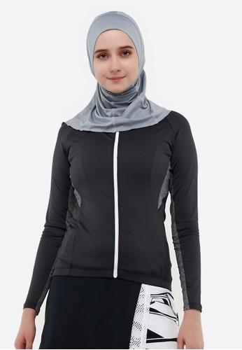 Corenation Active grey Athena Long Sleeve Cycling Jersey - Dark Grey 570E4AA52CE362GS_1