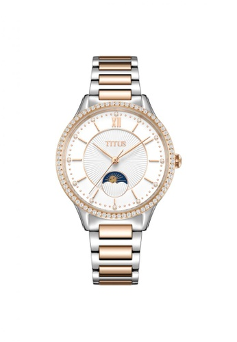Solvil et Titus silver and gold Fair Lady Women's Multi-Function Quartz in Silver White dial and Two-Tone Stainless Steel Bracelet 9D0C2ACA34D319GS_1
