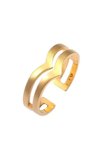 ELLI GERMANY gold Open V-Shape Geo Angle Lustre Ring E1249ACDF54566GS_1