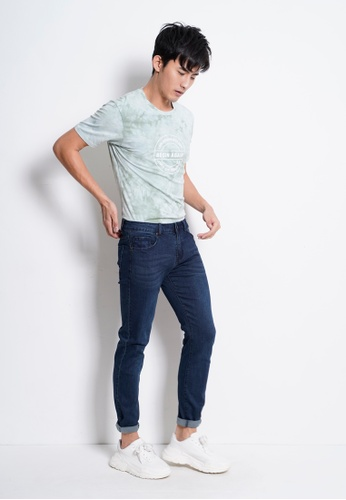 Hi Style blue Slim Fit Long Jeans B955EAA963A6C3GS_1