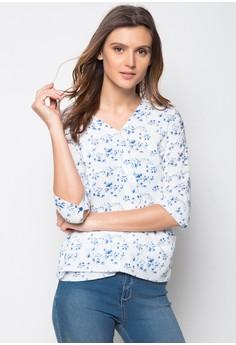 Ladies Slim Fit Printed Longsleeve Shirt