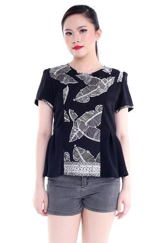 DhieVine Batik black and multi Nastiti Pelepah Pisang Top CCEDFAA549D552GS_1
