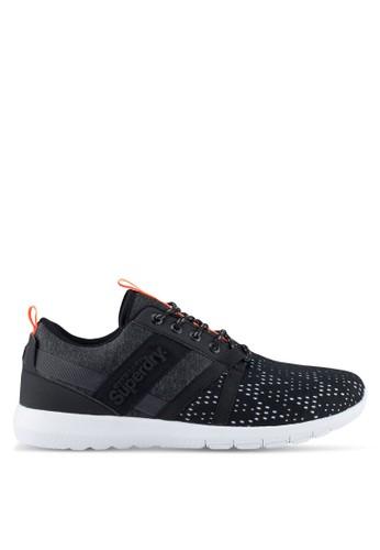 Superdry black Scuba Stadium Runner Shoes 59FE7SHAD5DB38GS_1