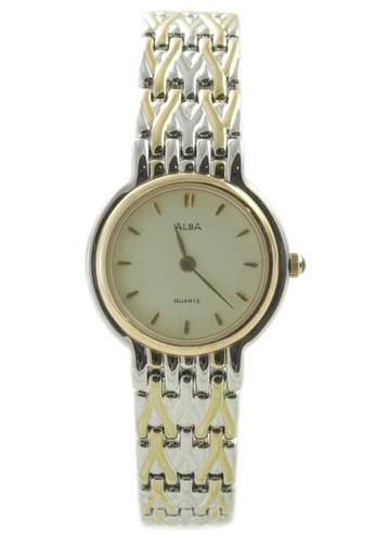 ALBA Jam Tangan Wanita - Silver Gold - Stainless Steel - ARY30G