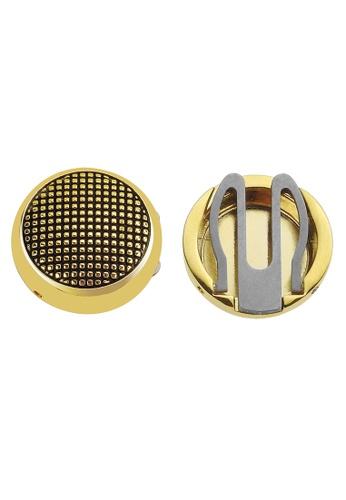 CUFF IT black Gold Dotted Button Cover Cufflinks EC63CAC338E14EGS_1